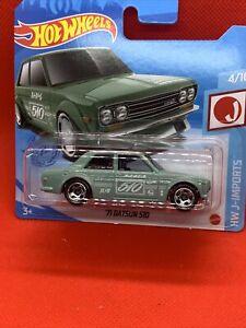 2021 HOT WHEELS '71 DATSUN 510 SHORT CARD Green #4/10 J-Imports