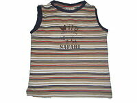 Bob der Bär tolles T-Shirt / Top Gr. 98 beige-blau-rot gestreift mit Druckmotiv