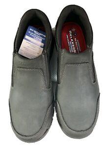 Skechers For Work Men's Hartan 77066 Steel Toe Slip-on Shoe Dark Brown Size 12