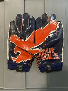 Auburn Tigers Team Issued Player Issued Under Armour Game Used Game Worn Gloves