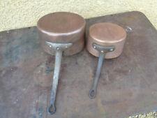 Antike Kochtopf Kamin Kupfer Objekt Küche Vintage Stil Eisen Geschmiedet