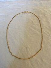 Ladies Vintage Yellow Gold Chain Necklace