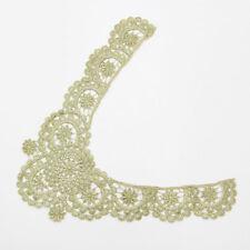gorgeous Venise Venice Lace Applique Gold metallic Collar Set  Dress #1632g