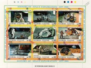 History of Space Exploration 1957-1989 Spacecraft Stamp Sheet #4 (Sierra Leone)