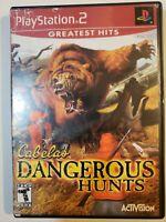 Cabela's Dangerous Hunts (Sony PlayStation 2, 2003) Complete