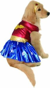 Pet Dog WONDER WOMAN Super Hero Dog Dress up Costume