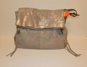 Aimee Kestenberg Rose Gold Denim Leather Penelope Hobo Bag