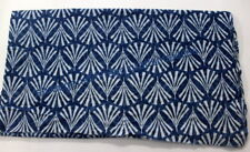 Hand Block Print Blue Fabric Indian Cotton Cambric Supplies Crafting 1 METER SG2