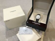 Longines Presence Automatic Black Leather Mens Watch L4.721.4
