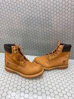 Timberland Premium 6 Inch Wheat Nubuck Waterproof Lace Up Boots Men's Size 7 M