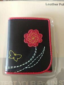 Belkin leather folio nano ipod flower butterfly new very rare apple case 🍎 L@@K