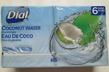 "DIAL ""Coconut Water"" Glycerin Soap Bars 113g (4 OZ) 1 x 6 Pack"