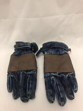 Vintage Levis Denim 70's 80's Gloves Winter Snow Youth L Rare