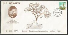 SWA Historical cover Rehoboth 03.10.1977 1. Basterkapitein seit 1906 Homeland