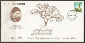 South West Africa Cover Rehoboth 77 Historical cover 1. BasterkapiteinHomeland
