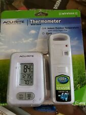 Acurite Wireless Thermometer with Clock, 02044W1, Indoor Outdoor