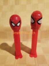PEZ Dispensers Spiderman Spider-man Marvel Comics Lot of 2 with feet