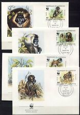 S3685) Cameroon 1988 MNH Wwf, Mandrill 4v FDC