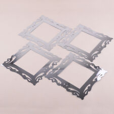 4pc Silver Mirror Flower Light Switch Surround Wall Sticker Cover Frame Deco DIY
