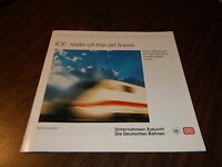 1993-1994 ICE TRAIN STATE OF THE ART TRAVEL BROCHURE AMTRAK DEMONSTRATION