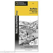 National Geographic Trails Illustrated AR Buffalo National River West Map 232