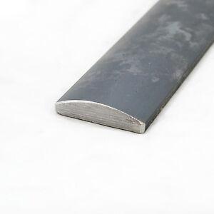 Mild Steel Half Round Bar | 51mm x 6mm | 0.5m - 6m Lengths