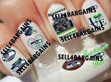NFL SEATTLE SEAHAWKS FOOTBALL LOGOS》10 Different Designs》Tattoo Nail Art Decals