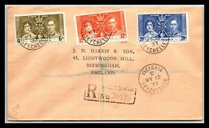 GP GOLDPATH: SEYCHELLES COVER 1937 REGISTERED LETTER _CV699_P17