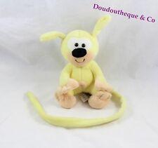 Peluche bébé jaune Marsupilami AJENA NOUNOURS 16 cm assis (VI-3191)