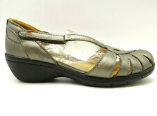 Clarks Unstructured Metallic Leather Adjustable Strap Sandals Shoes Womens 9.5 W