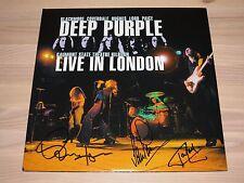 Deep Purple signed 2 LP-Live in London/2008 Germany 4 x autographed en Mint