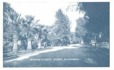 Alhambra California C-1910 Winter Street Railway Trolley Trips postcard 6037