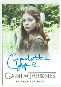 Game of Thrones Season 6  Autograph Card Charlotte Hope as Myranda