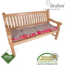 dralon® Teflon™ PREMIUM AUFLAGE FÜR BANK 150 x 50 CM CAPPUCCINO BRAUN SITZKISSEN