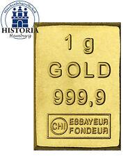 1 Gramm Gold Goldbarren 1 g - CombiBar Valcambi Schweiz in Münzen - Kapsel