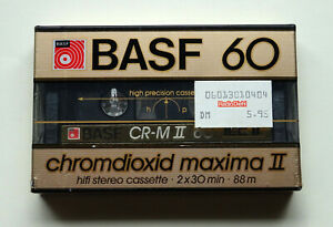 1x BASF chromdioxid maxima II 60 Cassette Tape 1985 + OVP + SEALED +