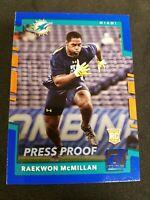 2017 Donruss Optic Blue #131 Rookies Raekwon McMillan Miami Dolphins Rookie Card