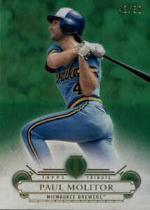2014 Topps Tribute Green #46 Paul Molitor SER #/50 Milwaukee Brewers  BX T2B