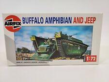 Sdg Airfix 02302 Buffalo Amphibian & Jeep Vehicle 1:72 Scale Plastic Model Kit