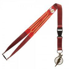 DC Comics Flash Suit Up Lanyard with Collectible Sticker ID Badge Holder & Charm