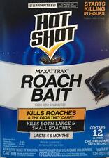 1 12-Pack - HOT SHOT Maxattrax Roach Baits - 12 Bait Stations - Lasts 6 Months