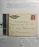 1941 Vilnius Lithuania Germany Occupation Censored Cover To Warsaw GG Poland