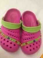 Scarpe simili alle crocs - rosa e verdi con note musicali - N° 26 - Usate