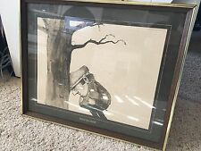 """1973 Thought Factory by Gary Patterson """"Frustration"""" Golf Vintage framed print"""