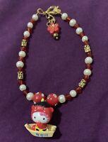 Hello Kitty Cute Charm Bracelet Red 6-6.5 Inch Christmas Birthday Gift