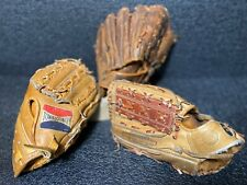 Vtg Japan Baseball Glove Lot TOWN & COUNTRY/POWER KING & Cambridge Cowhide Glove