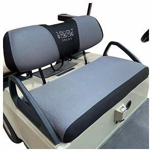 10L0L Golf Cart Seat Cover kit for Club Car Precedent DS Yamaha Gray + Black L