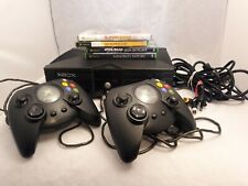 Original Microsoft Xbox Console with 5 Games and Controllers Works! Star Wars.