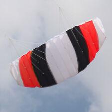 RED 55in 1.4m Dual line Power Stunt Parafoil Parachute Sports Beach Kite Surfing