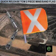 TCM 2 PIECE 2.5 METRE HIGH VIS SAND DUNE MINING MINE FLAG 4WD